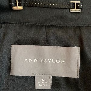 Ann Taylor Jackets & Coats - Ann Taylor black trench coat with belt - 6